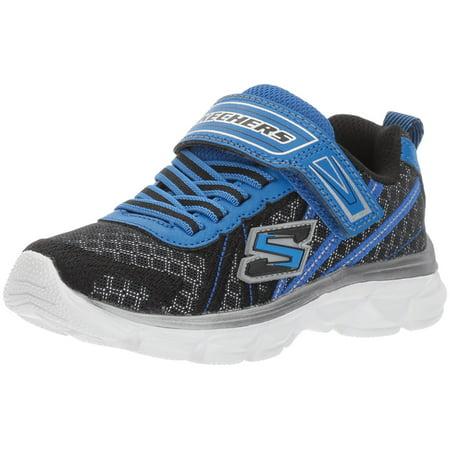 Kids Boys Advance-Hyper Tread Sneaker, BLACK/ROYAL, 12 M US Little Kid Skechers