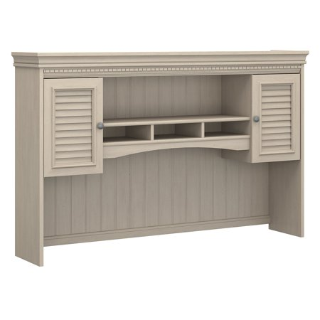 Bush Furniture Fairview Hutch for L Shaped Desk in Antique White ()