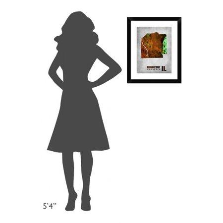 Naxart Bridgepoint Illinois Framed Graphic Art Print