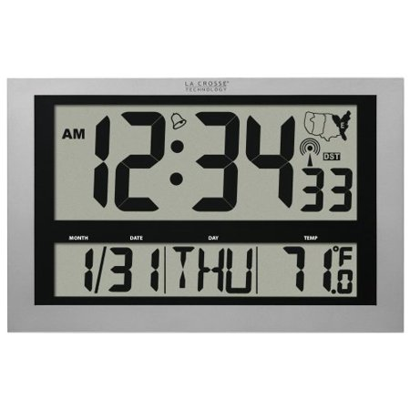 La Crosse Technology 513 1211 Atomic Digital Clock With Large 4 Inch Time Display   Digital   Atomic