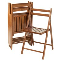 Winsome Wood Robin 4-PC Folding Chair Set, Teak, Multiple Finishes