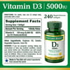 Nature's Bounty® Vitamin D3 125 mcg (5000 IU), 240 Softgels