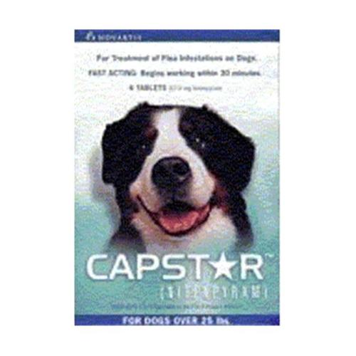 Novartis CAPSTAR-GREEN Capstar Dogs 26 Lbs.  and up.  - Green