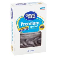 Great Value Premium Clear Cutlery Spoons, 48 count