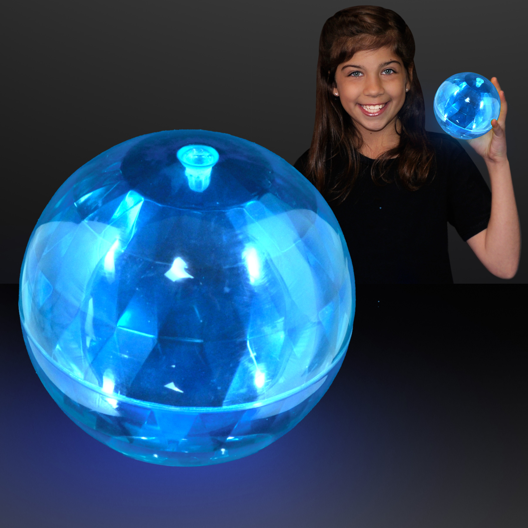 FlashingBlinkyLights 4 Light Up Soft Puffer Balls in