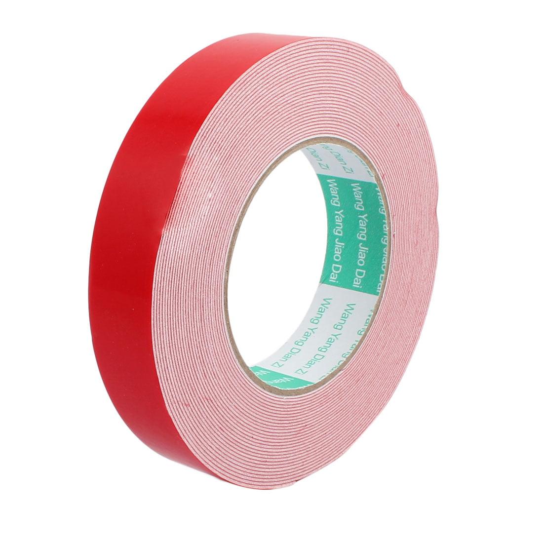 Door Seal 25mmx1mm Dual-side Adhesive Shockproof Sponge Foam Tape 10M Length
