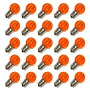 Sival 81003 - G30 Intermediate Screw Base Amber LED (25 pack) Christmas Light Bulbs