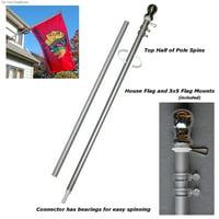 Spinning 6' Tangle Free Flagpole