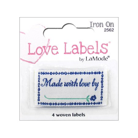 Iron-On Lovelabels 4/Pkg-Made With Love By