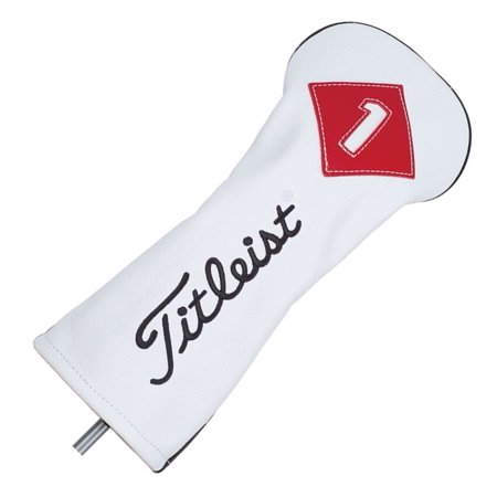 NEW Titleist Premium Leather White/Red/Black Driver Headcover ()