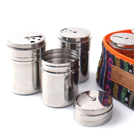 1Pc Stainless Steel Spice Shaker Seasoning Condiment Jar Sugar Salt Pepper Shaker Bottle Container - image 1 de 7