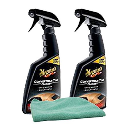 Meguiar's Convertible Top Cleaner (16 oz) Bundle with Microfiber Cloth (3