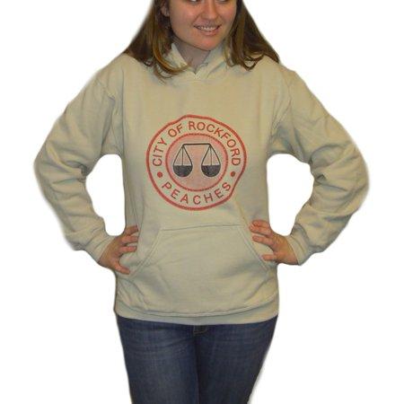 - Rockford Peaches Logo Hoodie A League of Their Own Sweatshirt Hooded Movie Gift