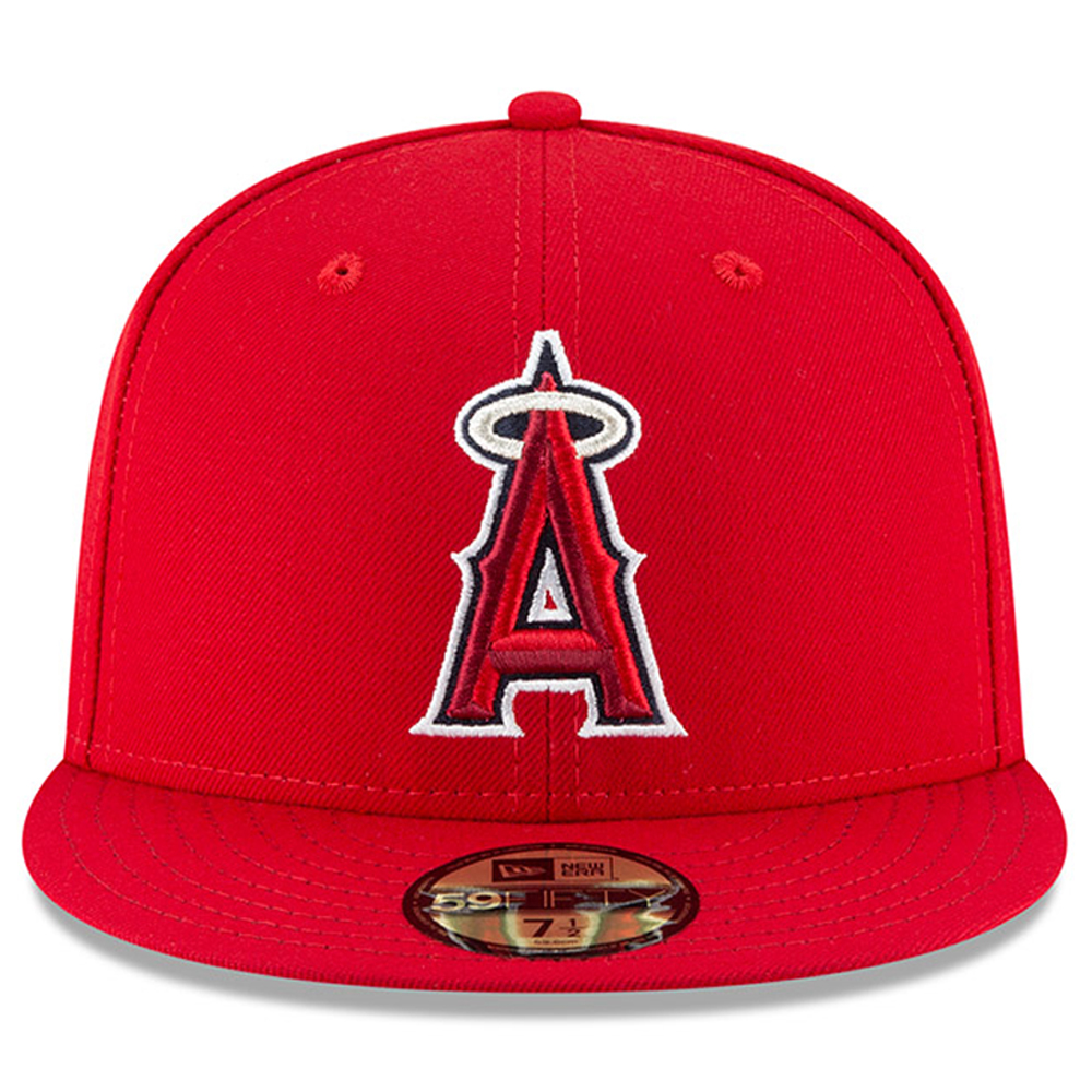 f629f33a9d6a2 Los Angeles Angels New Era 2018 9 11 Authentic Collection 59FIFTY Fitted Hat  - Red - Walmart.com