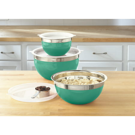 Mainstays Stainless Steel Mixing Bowl Set, 6 Piece