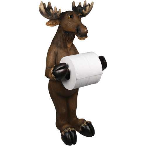 Rivers Edge Products Moose Standing Toilet Paper Holder Walmartcom
