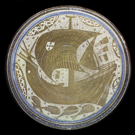 Porcelain lustreware bowl, Islamic, Spain, 15th century Print Wall Art By Werner (Spain Porcelain)