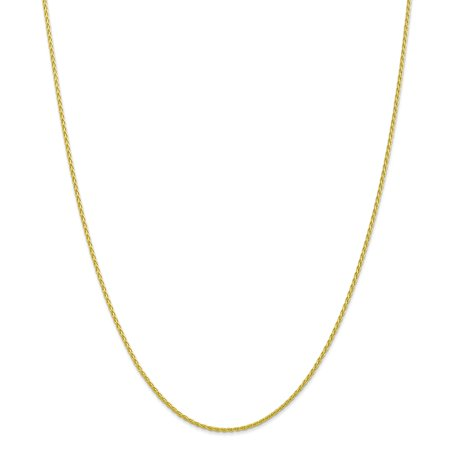 10k Yellow Gold 1.5mm Parisian Link Wheat Chain Necklace 18 Inch Pendant Charm Spiga Gifts For Women For Her