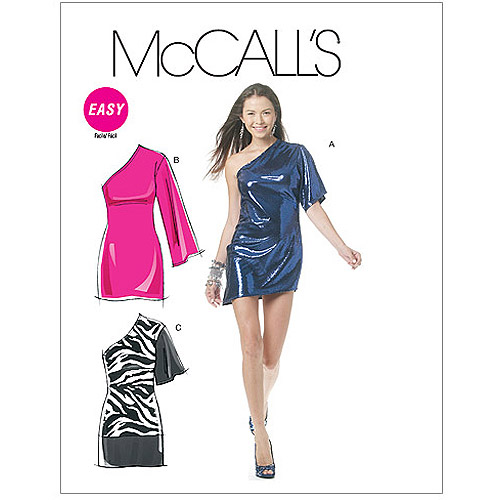 McCall's Pattern Misses' Dresses in 2 Lengths, AX5 (4, 6, 8, 10, 12)