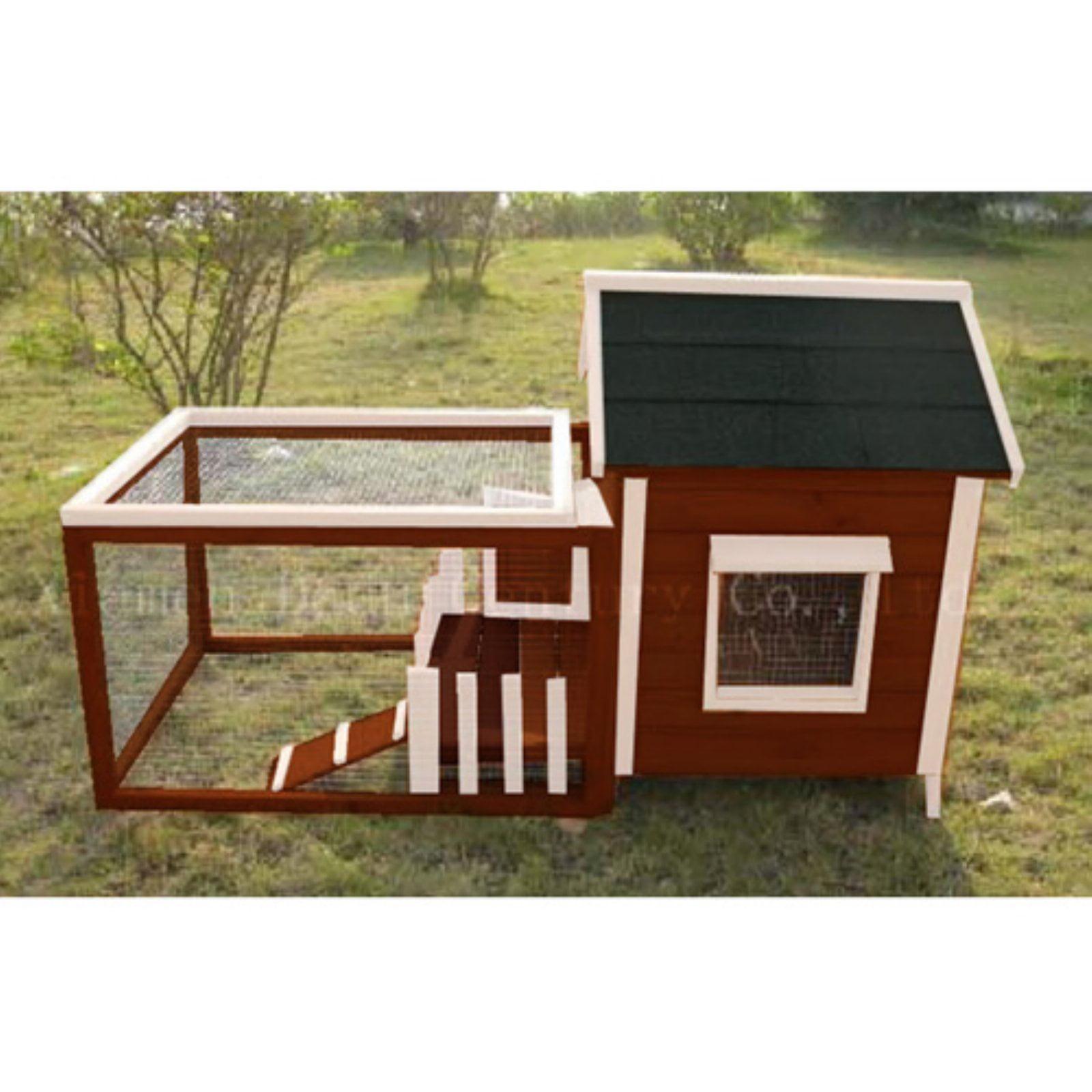 Advantek White Picket Fence Rabbit Hutch by Advantek Marketing Inc