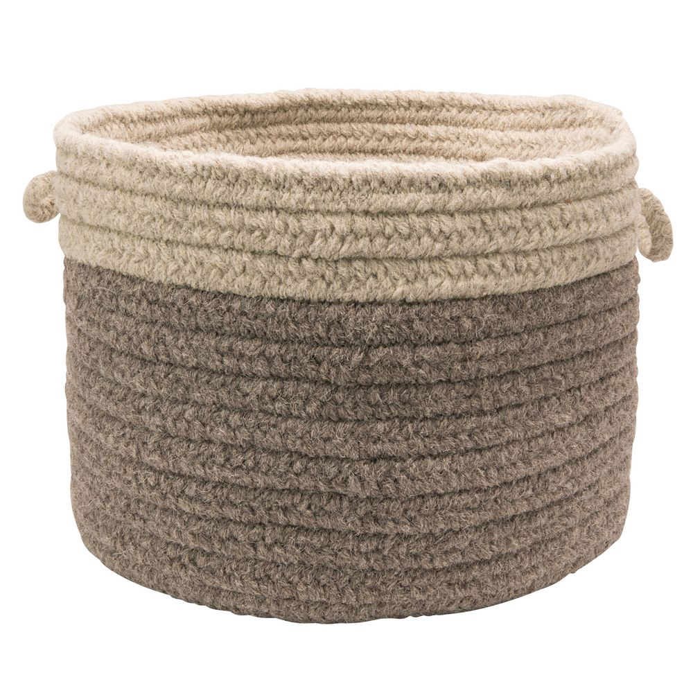 Chunky Natural Wool Dipped Basket