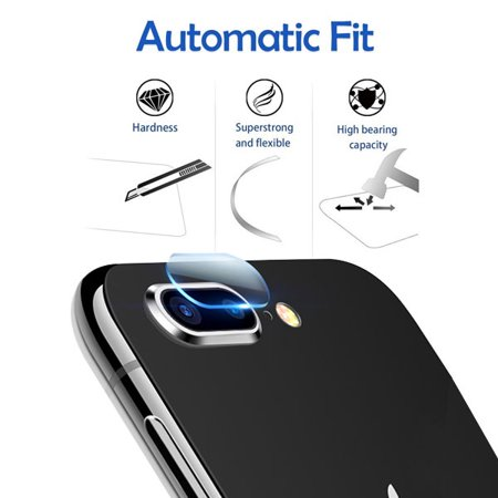 Apple iPhone 8 Plus / iPhone 7 Plus - Premium Tempered Glass Back Camera Lens Protector Guard CLEAR 2.5D for Apple iPhone 8 Plus & iPhone 7