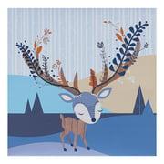 Lolli Living Woods Canvas Art – Deer – Screenprint Wall Art, Sturdy Wood Frame, Easy Installation, Baby Nursery Art Frames, Medium Size