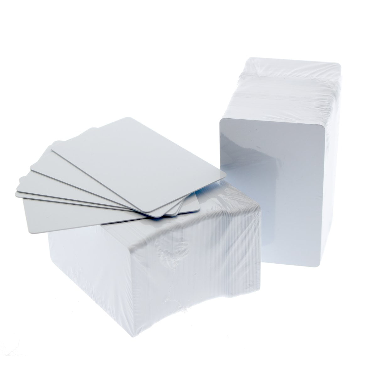 100 Pack Premium Blank PVC Cards for ID Badge Printers Graphic Quality White Plastic CR80 30 Mil (CR8030) By... by Specialist ID