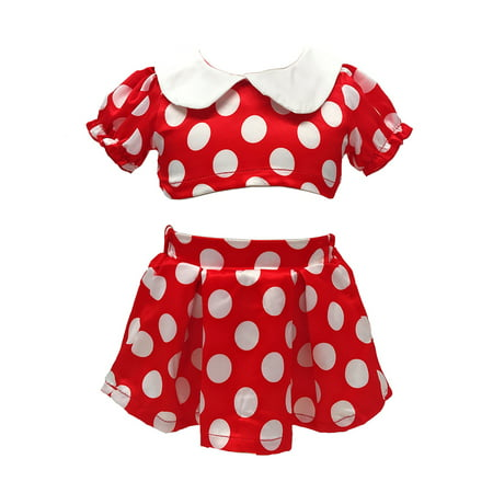 stylesilove Baby Girl Cartoon Polka Dots Halloween Top and Skirt 2 Piece Outfit Set (120/18-24 Months)
