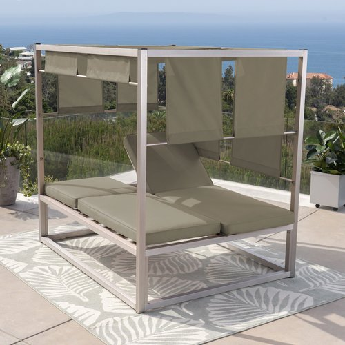 Orren Ellis Godalming Patio Daybed with Cushions