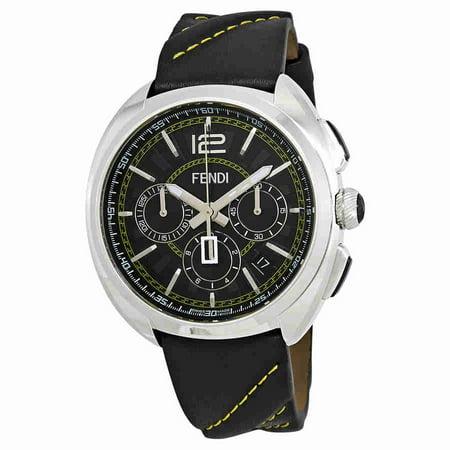 d0aa2077a97a Fendi - Fendi Momento Chronograph Black Dial Mens Watch F230011011 -  Walmart.com