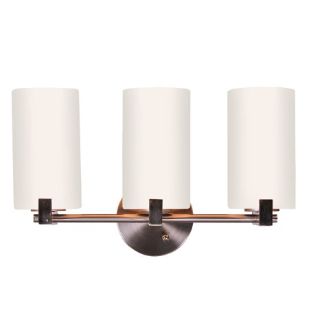 Design House 573147 Eastport Classic Contemporary 3-Light Indoor Dimmable Bathroom Vanity Light with Frosted Glass for Over the Mirror, Satin