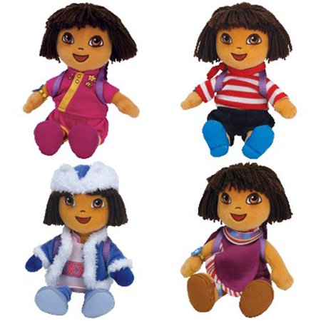 f0ae769c732 TY Beanie Babies - DORA the Explorer (Dora s World Adventure) ( Set of 4 )  (7.5 inch) - Walmart.com