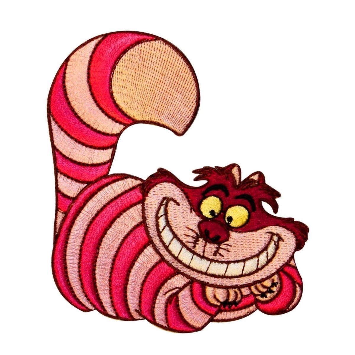 Cheshire Cat Patch Alice In Wonderland Disney Movie Character Iron-On Applique