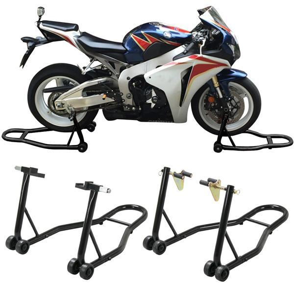 1 Pair Motorcycle Stand Front & Rear Swingarm Lift Head Front Forklift Auto Bike Fits... by Yaheetech