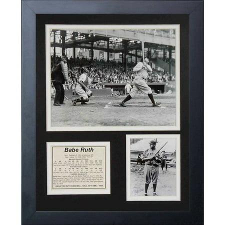 (Legends Never Die Babe Ruth At Bat Framed Memorabilia)
