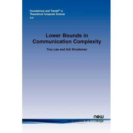 Lower Bounds in Communication Complexity - image 1 de 1