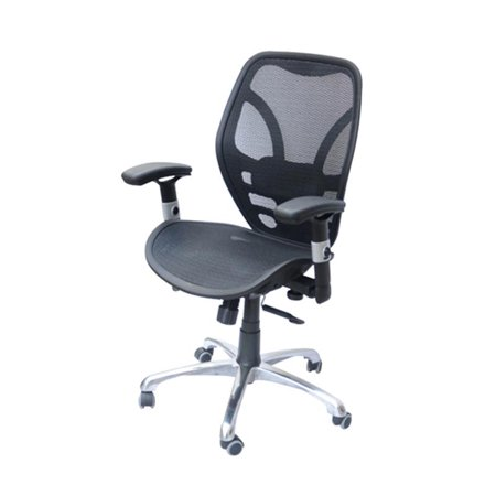HomCom Deluxe Mesh Ergonomic Office Desk Computer Task Chair Black Walmar