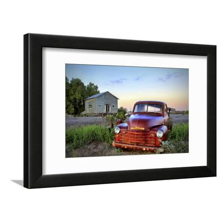 Truck Picture Photo - Old Chev Framed Print Wall Art By Wayne Bradbury