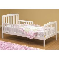 3-6T Toddler Bed, White, Comes complete with two side safety rails By Orbelle