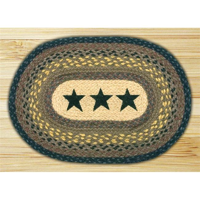 Earth Rugs 48-099S Stars Oval Placemat
