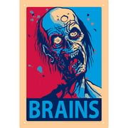 NMR Distribution Zombie Brains Tin Sign Graphic Art