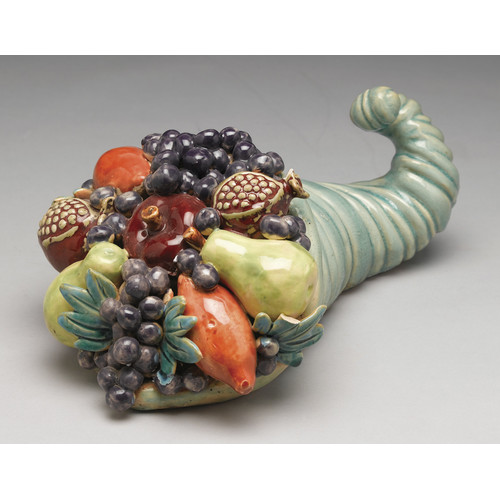 AA Importing Ceramic Horn of Plenty Sculpture