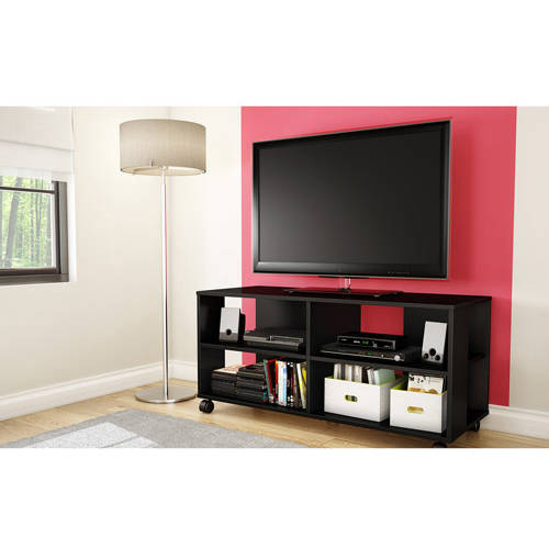 "South Shore Jambory Storage Unit on Casters for TVs up to 48"", Multiple Finishes"