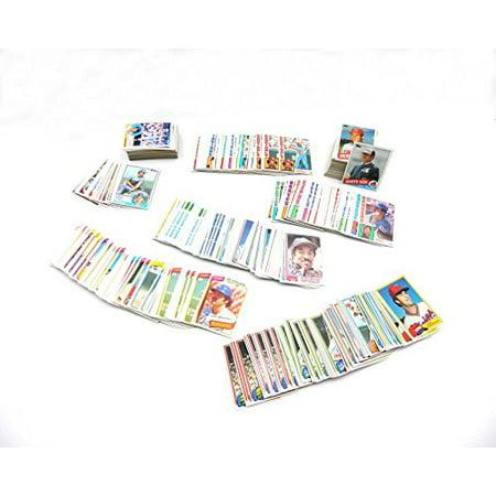 - Baseball Card Collector Box With (500) 1980-1985 Topps Baseball Cards