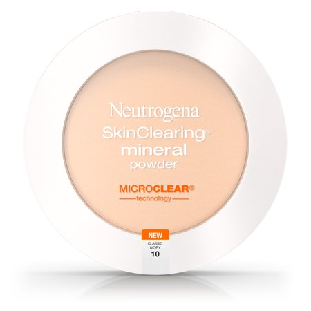 Neutrogena Skinclearing Mineral Powder, Classic Ivory 10,.34 Oz (Setting Powder For Halloween Makeup)