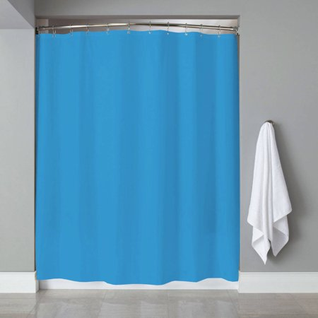Shower Curtain Liner PVC Metal Grommets Magnets Neon