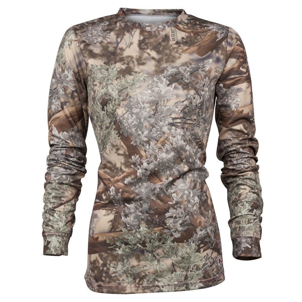 King's Camo Womens Hunter Long Sleeve Shirt Desert Shadow