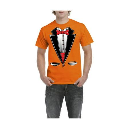 IWPF - Tuxedo Costume Funny Men s Short Sleeve T-Shirt - Walmart.com 6413b9437