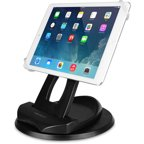 Macally SpinGrip Desk and Hand Holder for Apple iPad, Black